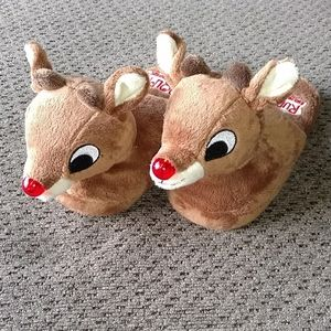 Other - Rudolph the red nose reindeer slippers